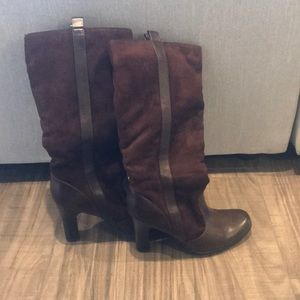 Brown Mossimo tall boots with heel